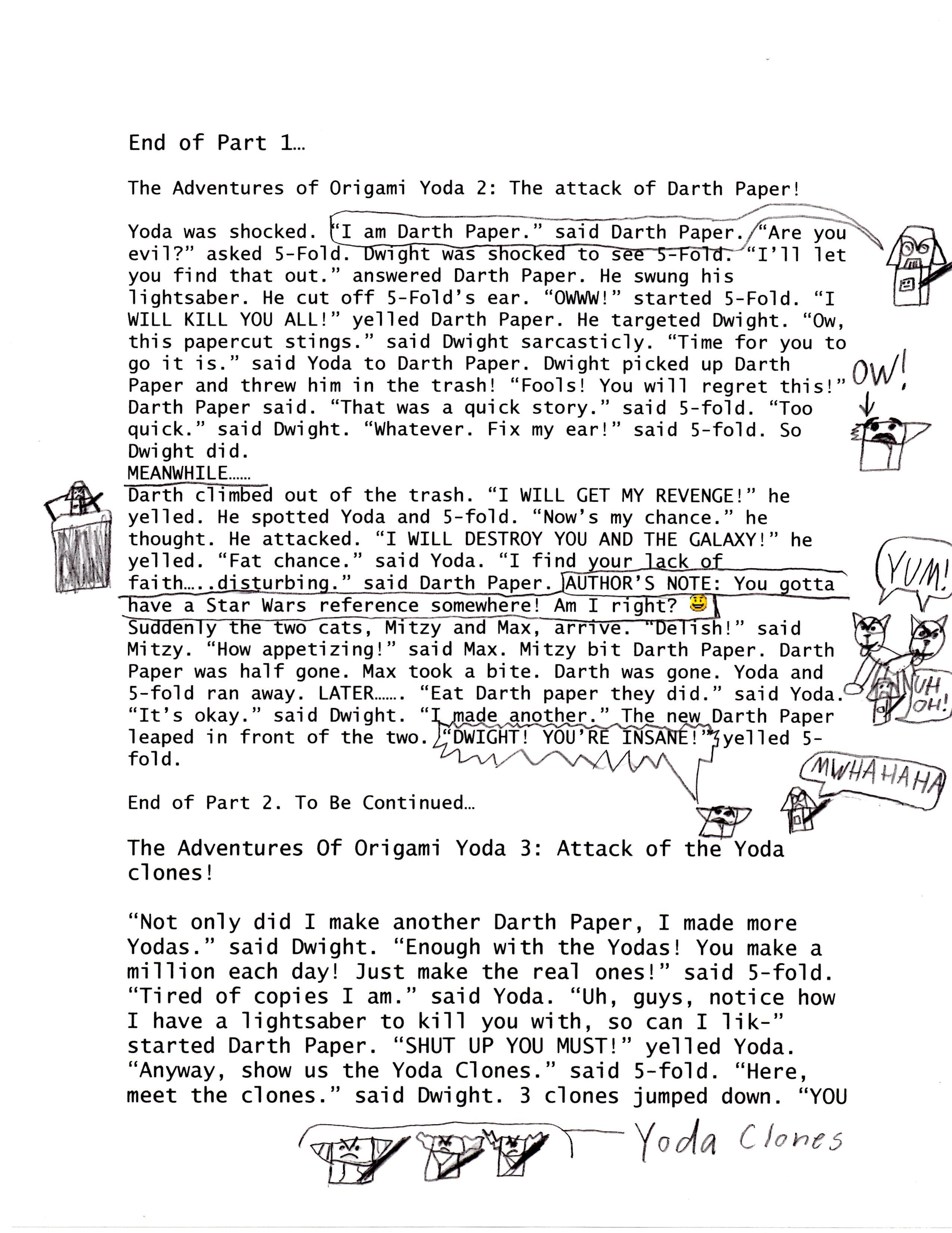 Episode 4 The Adventures Of Origami Yoda